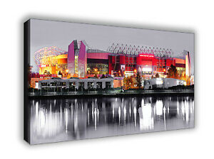 Manchester United Old Trafford Stylized Picture Wall Canvas Print Picture Art