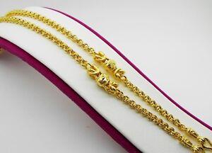 Chain 22K 23K 24K THAI BAHT GOLD GP NECKLACE 20 Inch 19 Grams Jewelry  Women