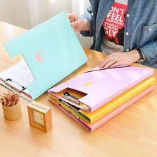 A4 File Document Bag Bills Folder Paper Data Holder Organizer Office Supplies