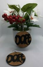 African wooden earring|Stylish Afro Queen wooden earring|Brown |black colour|6cm