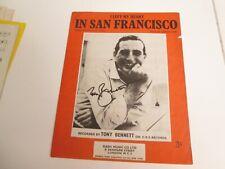 More details for tony bennett signed sheet music