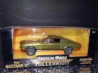 ERTL American Muscle 1967 Ford Mustang GT Millennium Y2K 1:18 Scale Diecast Car