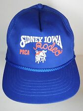 Vintage 1990s SIDNEY IOWA RODEO PRCA Rodeo Cowboys Advertising SNAPBACK HAT CAP