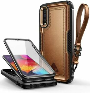 For Samsung Galaxy A50/A50s/A30s, SUPCASE Leather Case Full-Body w/ Screen Cover