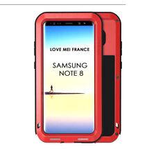 Coque antichoc blindée SAMSUNG Galaxy NOTE 8  Etanche - LOVE MEI FRANCE - Rouge