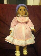 RARE Pleasant Company American Girl Doll Blond Hair Blue Eyes Eyelashes 18''