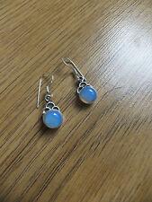 Opalite Gems round earrings in sterling silver the jewellery Channel TV
