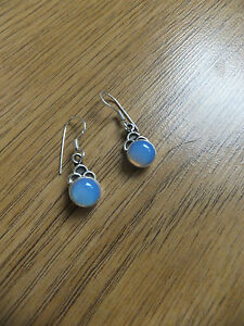 Opalite Gems round earrings in sterling silver the jewellery Channel TV