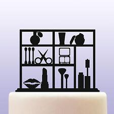 Acrylic Make Up Cosmetics & Beauty Cake Topper Decoration - Keepsake Gift