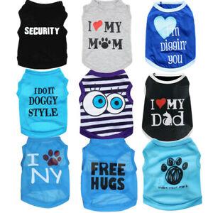 Lot of 9 PCS Boy Dog Clothes T Shirt Pet Male Small Puppy Cat Vest Wholesale