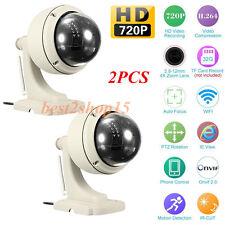 2 Sricam Wireless Outdoor Pan/Tilt Network CCTV Camera P2P Wifi IP Webcam IR-Cut