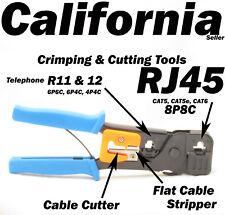 Rj45 Rj11 Rj12 6P6C 4C Cable Connector Plug Crimping Cutter Stripper Tool 8P8C