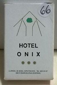 SAPONETTA HOTEL ONIX 3 STELLE BARCELLONA - RETTANGOLAR CONFEZ. IN SCATOLA N. 66
