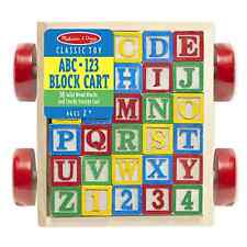Melissa & Doug Education Learning Alphabet Wooden Blocks Toddlers Toy Play Kid