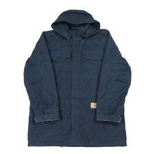 CARHARTT Hickman Parka Coat | Large | Workwear Vintage Hooded Jacket Insulated