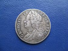 George II Silver Sixpence 1745  S.3709 Roses in angles VF+ grade