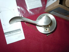 SCHLAGE DOOR HANDLE ~ Left Handed ~ Dummy ~ Satin Nickle  F170
