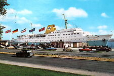"21797 AK Kiel Fährschiff ""Kronprinz Harald"" am Oslo-Kai Flaggen Autos um 1965"