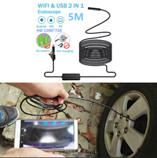 Car 5M 720P Inspection Endoscope Camera 8mm Lens Adjustable 8LED For Android IOS