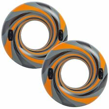 2 PACK Intex Vortex Tube Inflatable Float Swimming Pool Raft with Handles