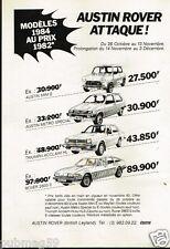 Publicité advertising 1983 Austin Rover