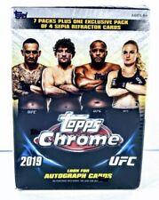 2019 TOPP CHROME UFC MMA 7 Packs+ Refractor Pk BLASTER Box Sean O'Malley Auto?