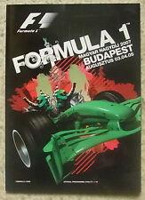 Ungherese GRAND PRIX FORMULA UNO F1 2007 Budapest PROGRAMMA UFFICIALE