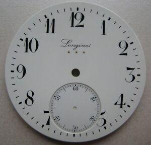 VINTAGE LONGINES CHRONOGRAPH POCKET WATCH PORCELAIN DIAL dia 43.35 mm NOS