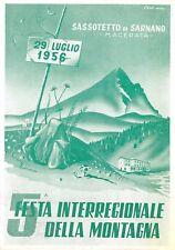 0476) SASSOTETTO DI SARNANO (MACERATA) 1956, 5 FESTA DELLA MONTAGNA.