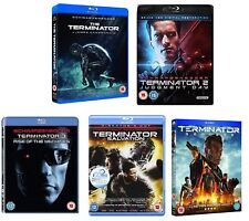 TERMINATOR  1-5 1984-2015: COMPLETE BLU-RAY Judgment Day,Salvation,Rise,Genisys