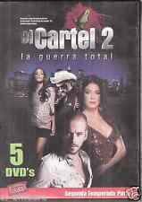 5 DVD's: EL CARTEL 2:: LA GUERRA TOTAL - SEGUNDA TEMPORADA, PARTE 1 ~ Free Ship
