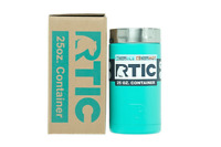 RTIC Insulated Food Container Teal  Steel, 25oz Cooler Lunch thermos hot cold