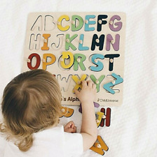 Montessori Wooden Puzzle Board Educational Learning Toys Alphabet Board Letters