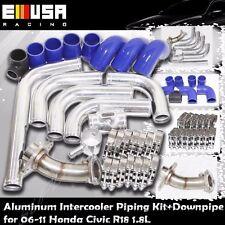 Intercooler Pipings+Downpipe fits 06-11 Honda Civic R18 EX DX 1.8L