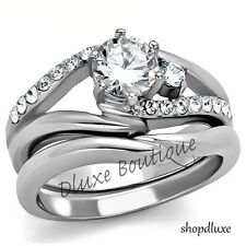 Engagement Ring Set Women's Size 5,6,7,8,9,10 1.50 Ct Round Cut Cz Wedding &