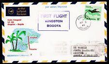 """Primero vuelo lh """"Kingston-bogotá"""" 03.04.1968!!! conejito. 993-raras -"""