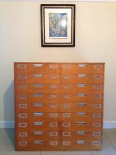 More details for vintage retro industrial haberdashery drawers collectors sideboard plan chest
