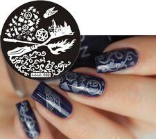 Arte de uñas imagen Planchas para Estampar placa Decoracion Harry Potter Halloween (jeje 30)