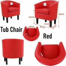 Modern PU Leather Tub Chair Armchair Sofa Seat For Work Reception Home Office UK