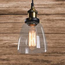 Lustre Suspension Luminaire Vintage Edison Lampe Plafonnier écran de verre Home