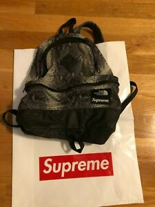 Supreme X North Face Grey Snakeskin Backpack - Authentic -  Gently Used