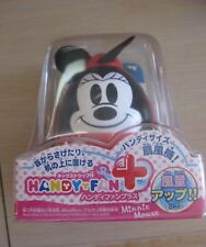 Disney Japan Tomy Minnie Mouse Handy Fan with Neckstrap Brand New in Box