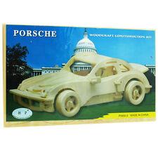 3D Wood Construction Puzzle - Porsche