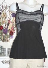 Vive Maria Long Top Lovely Evening S 36 schwarz black grau grey melang modal