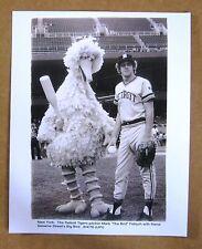 Detroit Tigers' Mark  Fidrych photo with Big Bird at Yankee Stadium 8-04-1976!