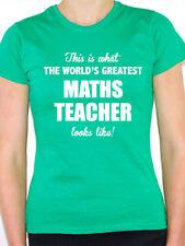 WORLDS GREATEST MATHS TEACHER - Mathematics / Novelty Themed Women's T-Shirt