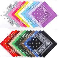 algodón paisley bandana doble cara Pañuelo De Cabeza Bufanda (Todos Colores)