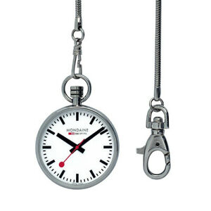 Mondaine Swiss Pocket Watch A660.30316.11SBB with Chain