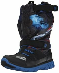 Stride Rite Toddlers Made 2 Play Star Wars Winter Boot, Black