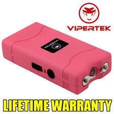 VIPERTEK PINK Mini Stun Gun VTS-880 450 MV Rechargeable LED Flashlight